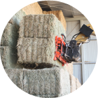 conventional hay stacking
